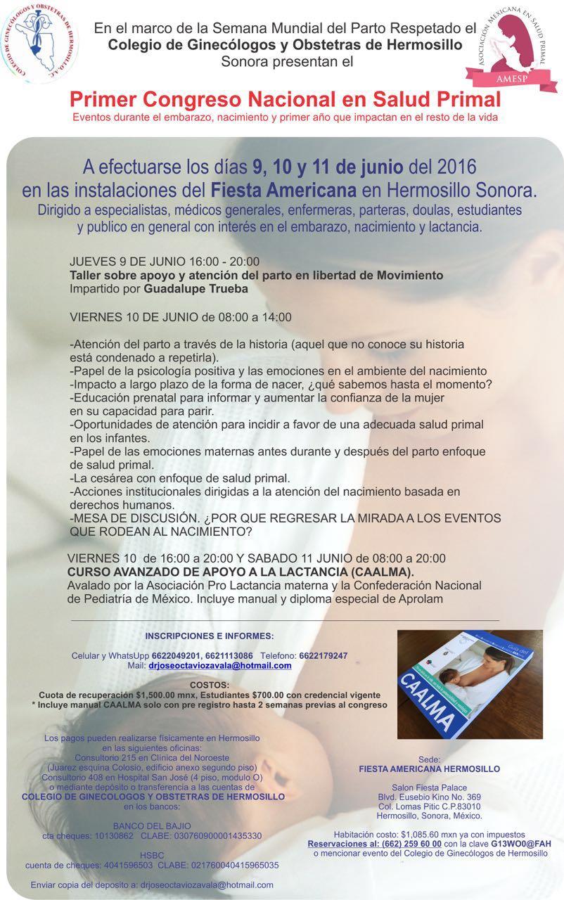 Primer Congreso Nacional en Salud Primal